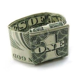 Оригами платье из денег своими руками. | 300x300