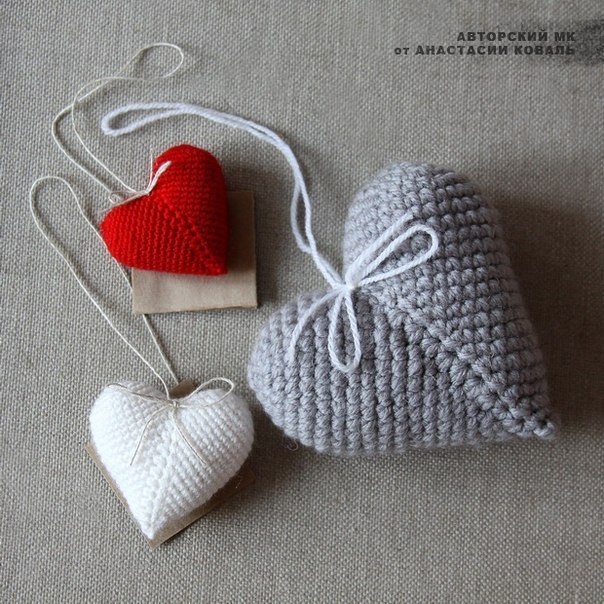 Вязаная валентинка на 14 февраля своими руками
