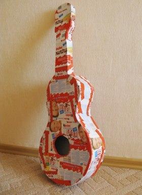 Подарок на День рождения своими руками для музыканта и любителя сладкого