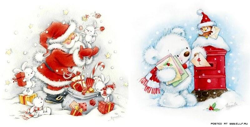 фото открытки новогодние