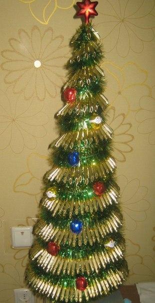 Поделка новогодней елки своими руками фото