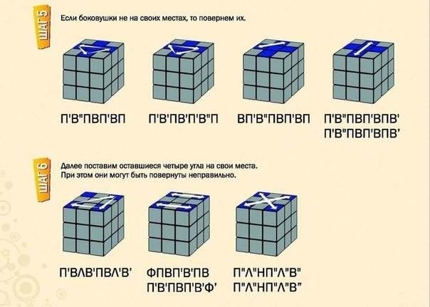 Как собрать Кубик Рубика Шаг 5-6