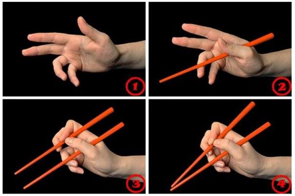 Как пвильно держать китайские палочки