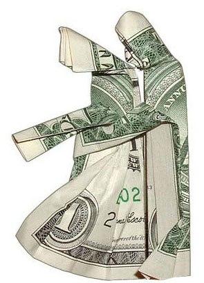 фото оригами из денег