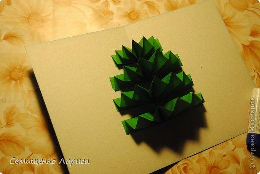 Елочка открытка из бумаги