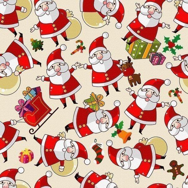 Упаковочные бумаги новогодние подарков