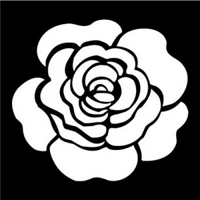 Трафарет своими руками роза