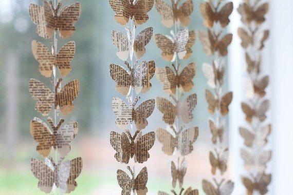 Декор стен из бабочек своими руками