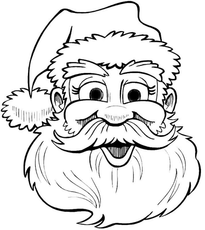 Трафареты Деда Мороза скачать