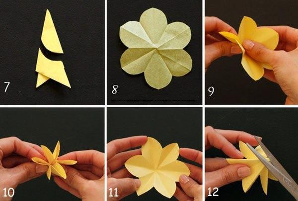Поделка цветочек своими руками из бумаги