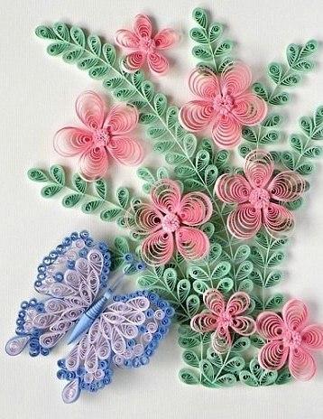 цветы картинки квиллинг
