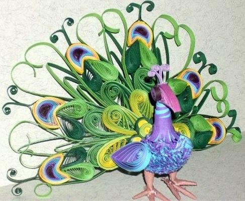 Квиллинг птицы могут быть как