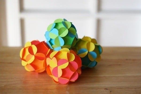 Поделки оригами на новый гШары из картона