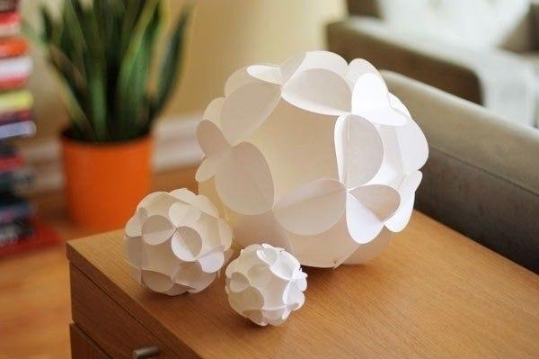 Поделка шар из бумаги своими руками