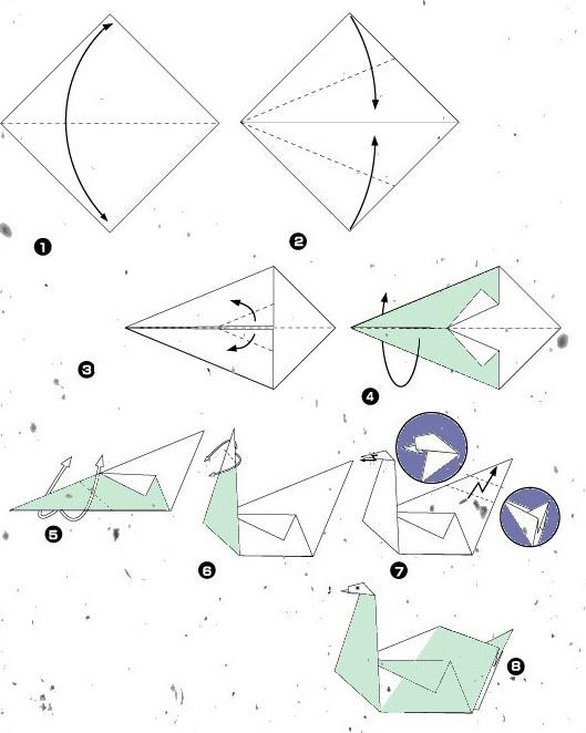 Для выполнения лебедя оригами