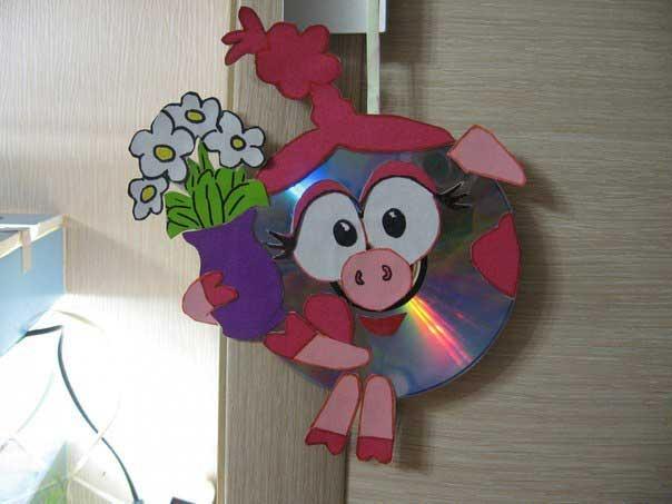 Картинки поделки своими руками из дисков