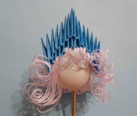 Модульное оригами Снегурочка