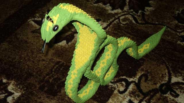 Модульное оригами кобра