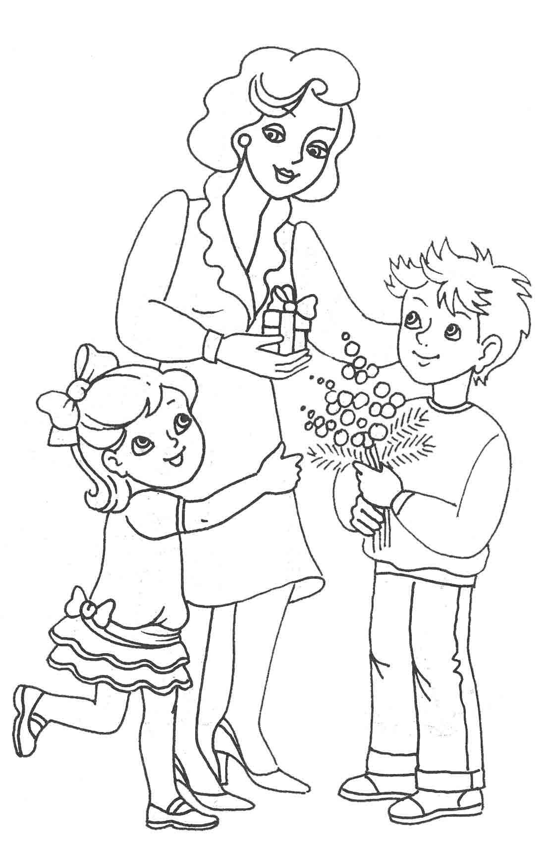 Рисованные картинки сын и мама 28 фотография