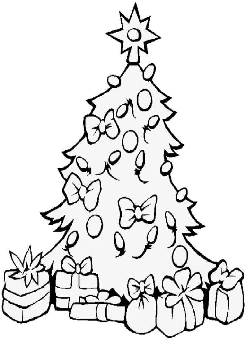 Елка новогодняя с подарками рисунок 91