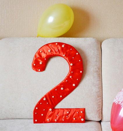 Сделать цифру 5 на день рождения своими