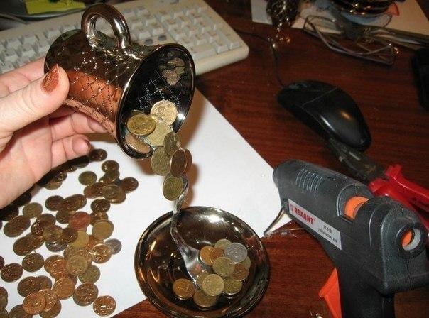 Поделки из монет своими руками в домашних условиях