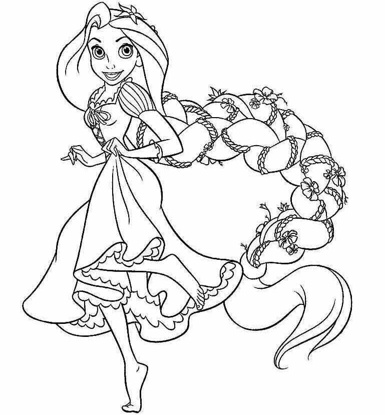 Раскраска рапунцель принцессы