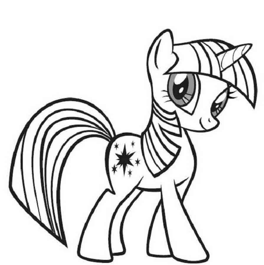 Раскраска лошадь пони