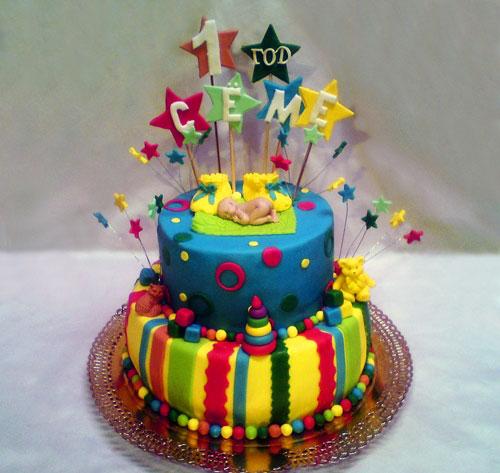 Торт на первый день рождения на день рождения своими руками