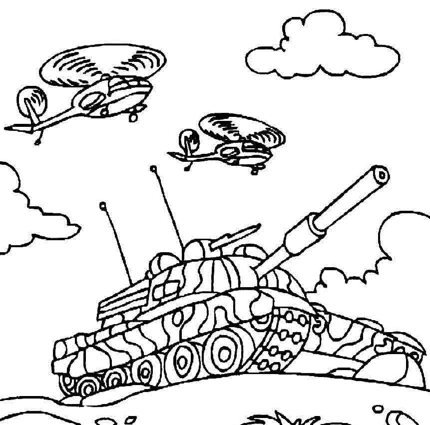 раскраски танки скачать бесплатно