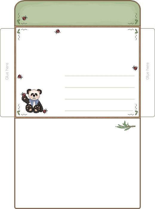 Нужный шаблон конверта для