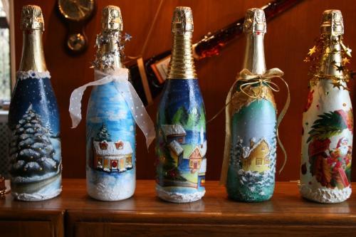 Декупаж шампанского своими руками фото 77