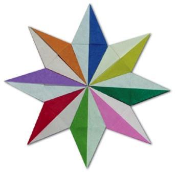 Новогодняя звезда своими руками схема