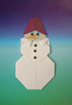 Оригами схемы снеговик