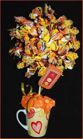 Топиарий с конфетами своими руками новые фото