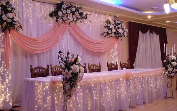Украсить столы на свадьбу своими руками