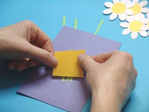 Как сделать из белой бумаги открытку для мамы без клея