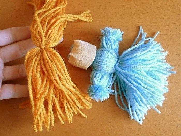 Фото кукла из ниток для вязаний