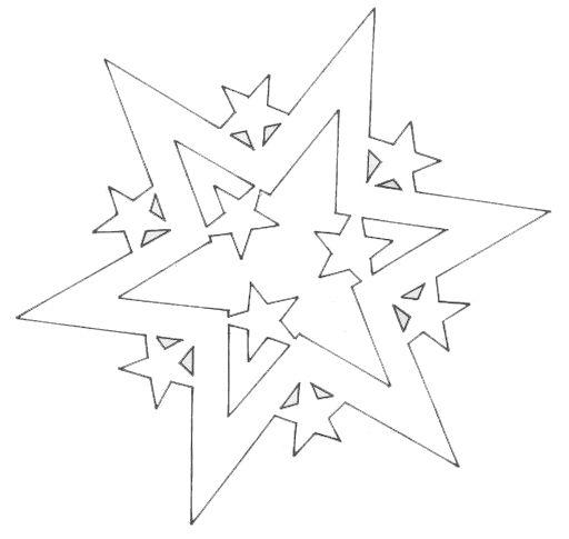 Вытынанки звезды шаблоны
