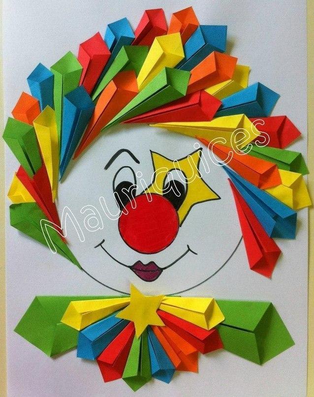 Клоун поделка из бумаги с шаблонами