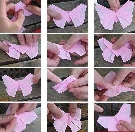 Как сделать красивую бабочку своими руками. - Украшение дома 54
