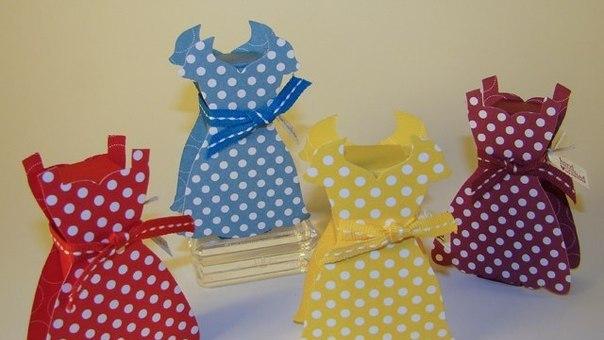 Платья из бумаги шаблон