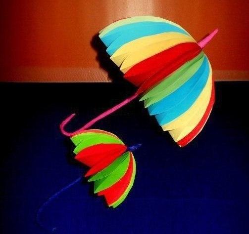 Объемный зонтик из бумаги своими руками