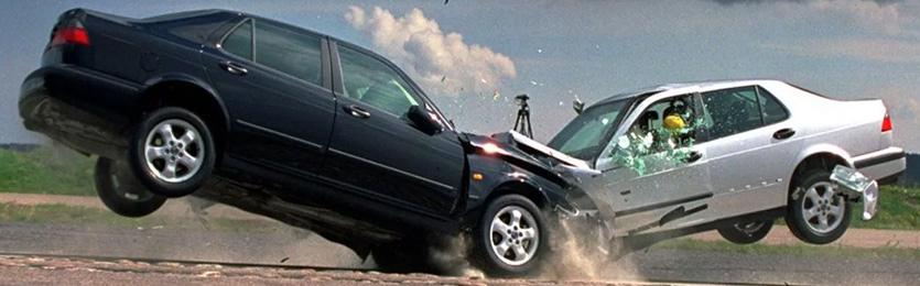 Звук сбивания человека машиной