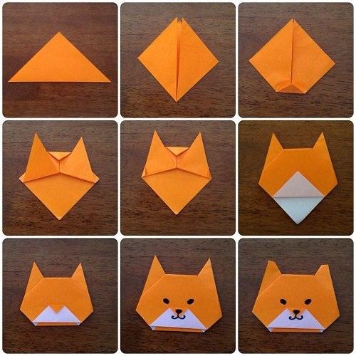 Оригами пошаговое с котенка